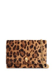 Alexander Mcqueen Small Skull Printed Leo Ponyskin Bag Black Natural