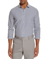 Bloomingdale's The Men's Store At Gingham Regular Fit Button Down Shirt Sapphire Heather