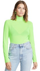 Endless Rose Mesh Turleneck Long Sleeve Tee Neon Green