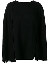 Y's Cape Style Sweater Black