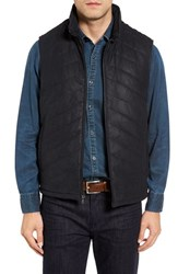 Robert Comstock Men's Quilted Leather Vest