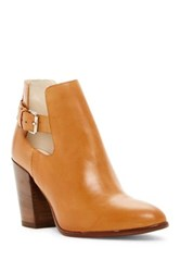 Summit By White Mountain Pennilyn Genuine Leather Buckle Bootie Brown