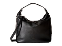 Furla Eva Medium Hobo Onyx Hobo Handbags Black