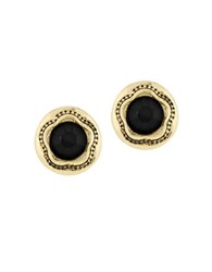Laundry By Shelli Segal Pacific Highway Round Stone Stud Earring Black