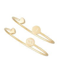 Gold Elle Heart Cap Engravable Bangle Sarah Chloe