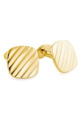 Men's David Donahue Textured Cuff Links Gold Square