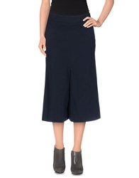 Manila Grace Skirts 3 4 Length Skirts Women Dark Blue
