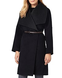 Phase Eight Bruna Belted Coat Navy Charcoal