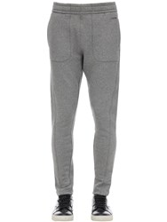 Z Zegna Japanese French Terry Cotton Blend Pants Grey