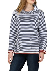 Seasalt Four Winds Reversible Stripe Sweatshirt Duo Dahlia Marine