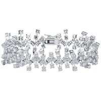 Jools By Jenny Brown Abstract Cubic Zirconia Bracelet Silver