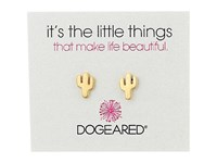 Dogeared Little Things Cactus Stud Earrings Gold Dipped Earring
