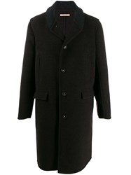 Massimo Alba Knit Collar Coat Brown