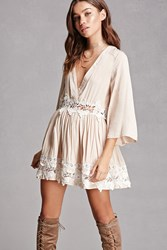 Forever 21 Selfie Leslie Crochet Dress Beige