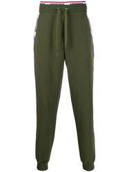 Moschino Logo Tape Track Trousers Green