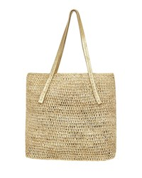 Flora Bella Karibo Raffia Metallic Beach Tote Natural Gold