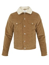 Acne Studios Beat P Stretch Cotton Corduroy Jacket Khaki