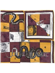 Alexander Mcqueen Snakes And Ladders Scarf Men Silk Wool One Size