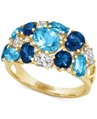 Effy Collection Effy Blue Topaz 4 3 4 Ct. T.W. And Diamond Accent Ring In 14K Gold