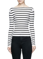 Theory 'Blasina St' Stripe V Back Sweater Multi Colour