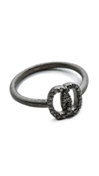 Jamie Wolf Nycb Serenade Black And White Diamond Ring Silver