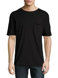 Nana Judy Textured Cotton Tee Black