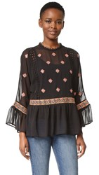 Endless Rose Embroidered Blouse Black