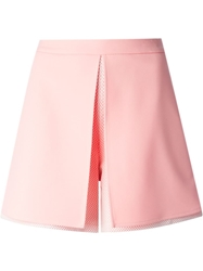 Opening Ceremony Mesh Detail Shorts Pink And Purple