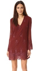 Wayf Halifax Dress Burgundy Burgundy