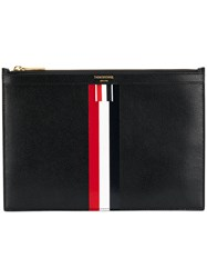 Thom Browne Striped Tablet Holder Calf Leather Black