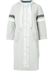 Marc Cain Hooded Sweater Dress Grey