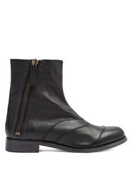 Chloe Lexie Leather Ankle Boots Black