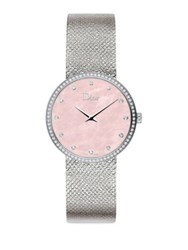 Christian Dior La D De Diamond Mother Of Pearl And Stainless Steel Watch Pink Mother Of Pearl