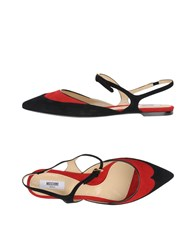 Moschino Couture Ballet Flats Red
