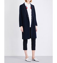 Moandco. Worsted Wool Blend Coat Peacoat