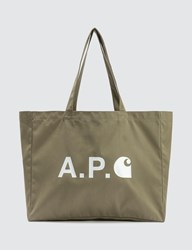 A.P.C. X Carhartt Shopping Bag Green