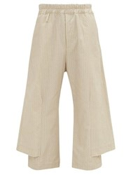 By Walid Robin Cotton Canvas Trousers Cream Multi