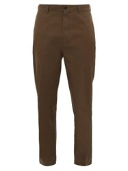 Raey Tapered Cotton Chino Trousers Brown