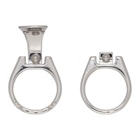 Raf Simons Silver Can Tab Hoop Earrings