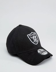 New Era 39Thirty Fitted Cap Oakland Raiders In Suede Black