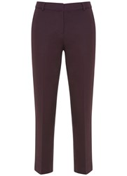 Mint Velvet Bordeaux Stretch Cotton Crop Trouser Dark Red