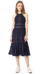 Rebecca Taylor Sleeveless Mid Dress Navy Black
