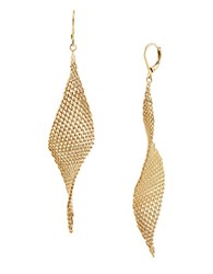 Kenneth Cole Jeweled Elements Goldtone Mesh Drop Earrings