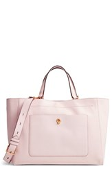 Cole Haan Zoe Leather Work Tote Pink Peach Blush