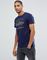 Tom Tailor T Shirt With Heritage Print In Navy 6811