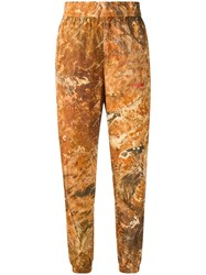 Heron Preston Camouflage Print Track Pants Orange