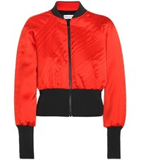 Sonia Rykiel Satin Cropped Jacket Red