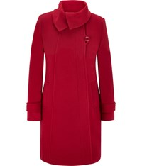 Cc Fold Collar Wool Duffle Coat Red