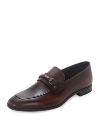 Prada Leather New Bit Loafer Brown