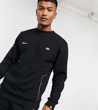 Ellesse Hansal Sweatshirt With Reflective Back Print In Black Exclusive At Asos